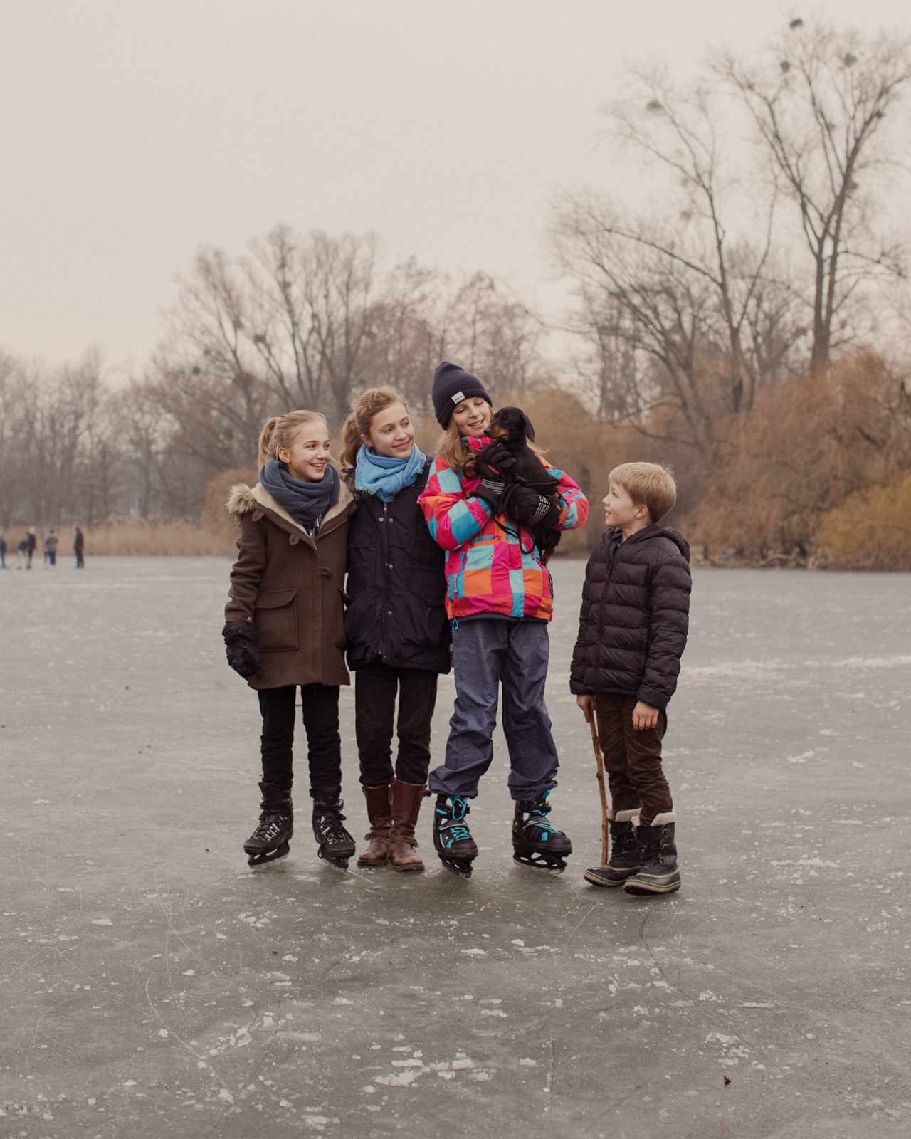 EVELYN DRAGAN  Ice Skaters